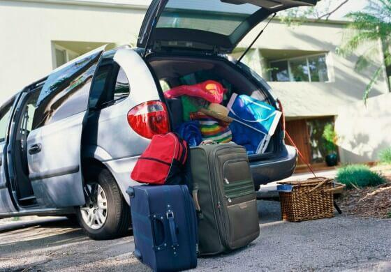 Carro com bagagens